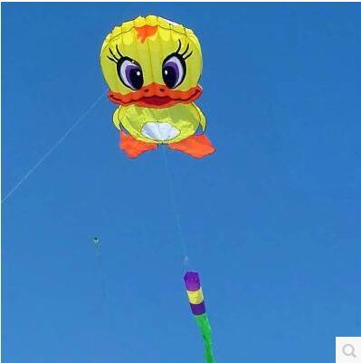 [해외]?고품질 6m 거대한 오리 연 연 립 스톱 나일론 패브릭 카이트 웨이 팡 축제 하늘 연 장난감에서 대형 연 바퀴 도보/ high quality 6m giant duck soft kite ripstop nylon fabric kite weifang festival