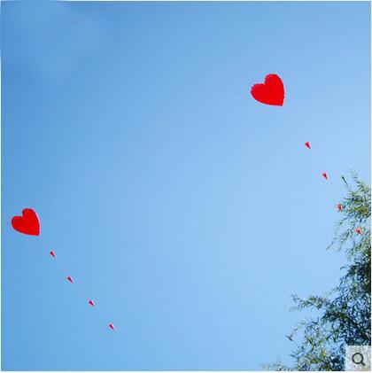 [해외]?고품질 5m 부드러운 마음 kitehandle 선 옥외 비행 장난감 큰 연 유방 연 공장 사랑 낙지/ high quality 5m soft heart kitehandle line outdoor flying toy large kite weifang kite fa