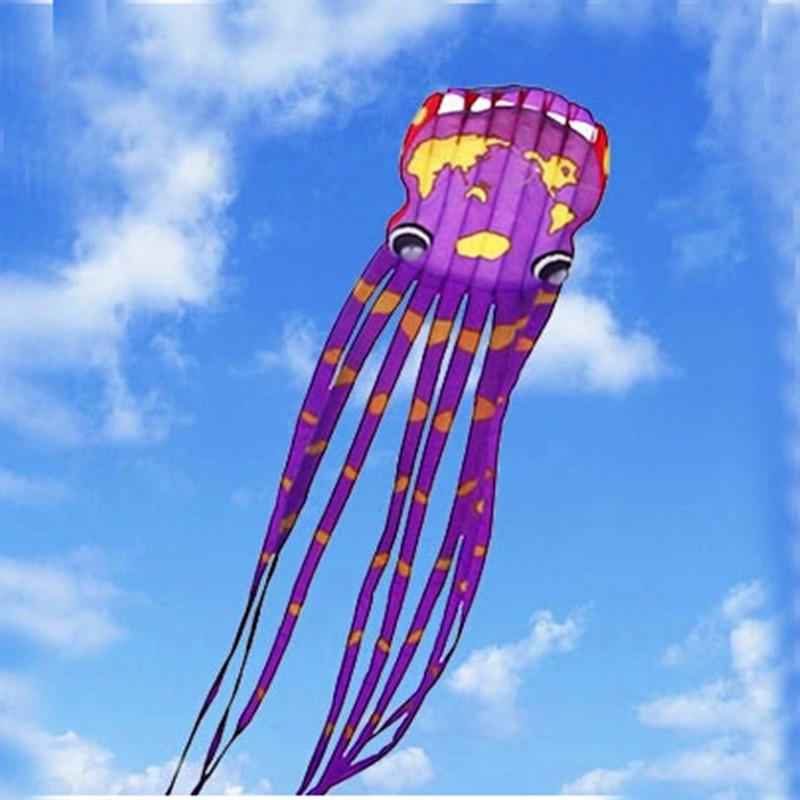 [해외]?고품질 큰 연 연 30m 세계지도 낙지 연 릴 립 스톱 나일론 낙하산 비행 장난감 열기구/ high quality large soft kites 30m world map octopus kite reel ripstop nylon parachute flying t