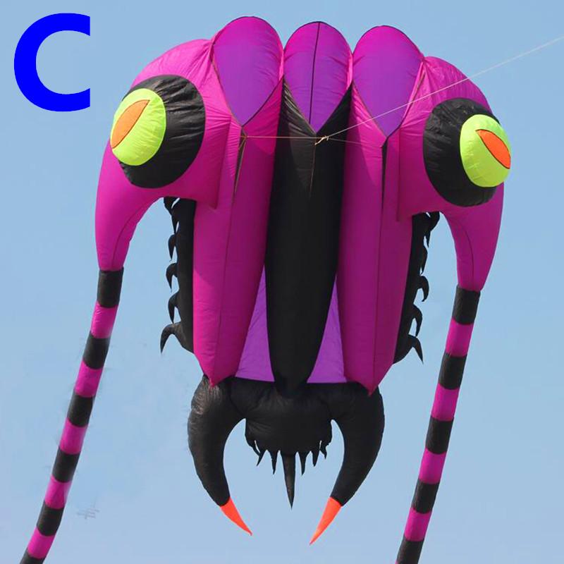 [해외]?새로운 디자인 7sq.m trilobite 연 연 스포츠 립 스톱 나일론 패브릭 연 3d 오징어 장난감 kaixuan 연 비행하기 쉬운 휠/ new design 7sq.m trilobite soft kite sport ripstop nylon fabric ki