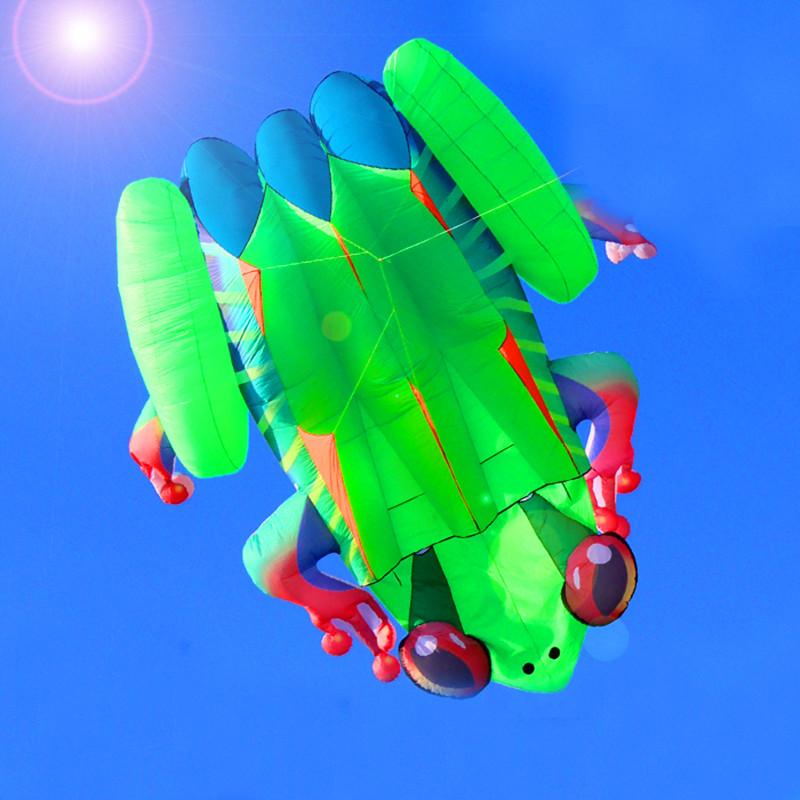 [해외]?고품질 3D 눈 개구리 소프트 카이트 핸드 라인 야외 장난감 weifang 연 공장 새로운 문어 카이트 서핑/ high quality 3D eyes frog soft kitehandle line outdoor toys weifang kite factory ne