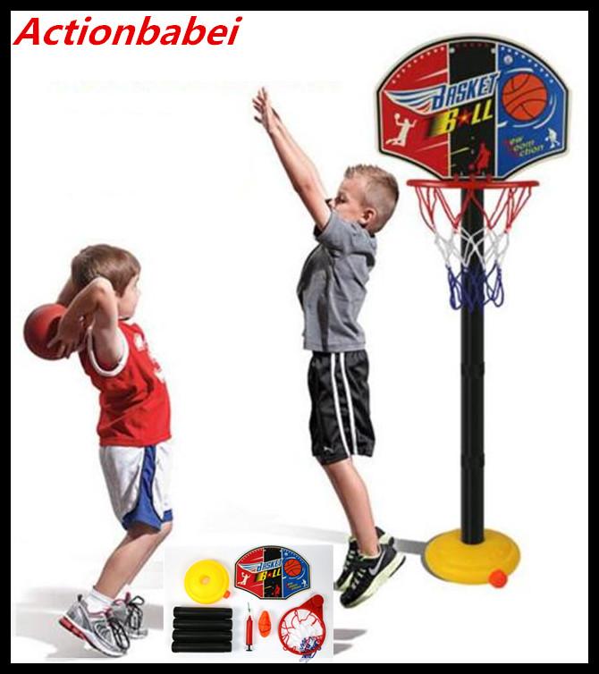 [해외]Actionbabei 1set 새로운 휴대용 어린이 무료 스탠딩 농구 볼 NET SET HOOP BALL OUTDOOR 여름 게임 어린이를선물/Actionbabei 1set New PORTABLE CHILDREN FREE STANDING BASKETBALL NE