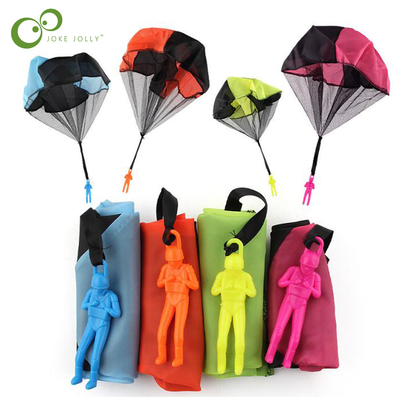 [해외]2pcs 미니 어린이 낙하산 손 던지기 낙하산 장난감 놀이 야외 게임 어린이 교육용 낙하산 얼굴 군인 GYH/2Pcs Mini Kids Parachute Hand Throwing Parachute Toy Play Outdoor Games Children Educ