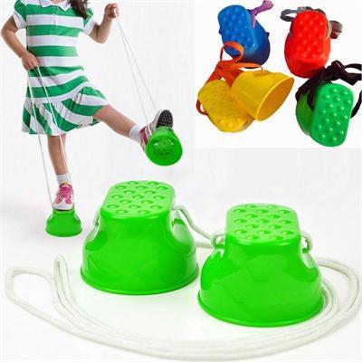 [해외]1pair 어린이를야외 플라스틱 저울 훈련 장비 키즈 워커 장난감 몬스터 피트 아이들을재미있는 장난감 선물 무작위로 색상/1pair  Outdoor Plastic Balance Training Equipment For Children Kid Walker Toy