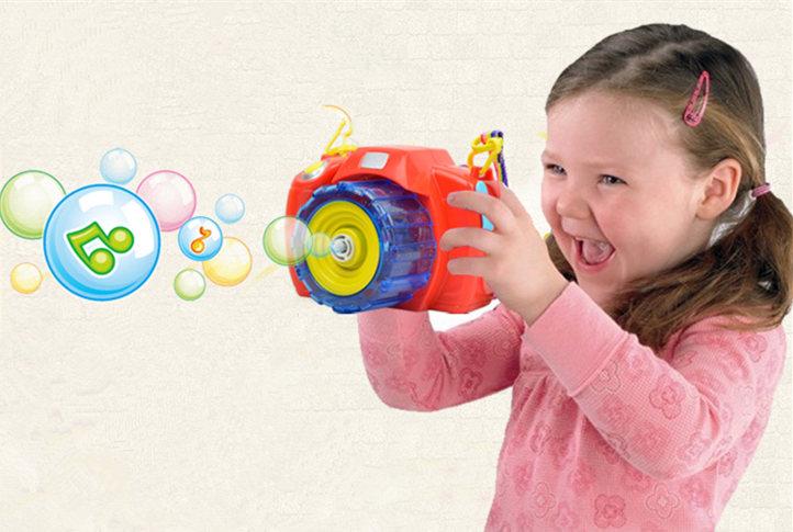 [해외][Funny] 완전 자동 조명 & amp; 소리 빛나는 버블 카메라 총 야외 장난감 키즈 버블 클럽 워터 건 비누 버블 송풍기 선물/[Funny] Fully-Automatic light & sound Shining Bubble camera Gun