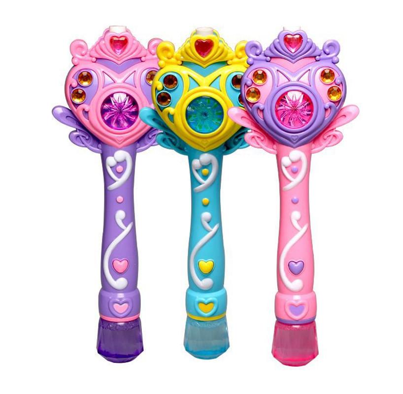 [해외]3 색 완전 자동 거품 기계 마술 지팡이 거품 총 장난감 bubblemusic 및 가벼운 어린이 파티 생일 선물/3 color Fully-automatic bubble machine magic wand bubble gun toy bubblemusic and li