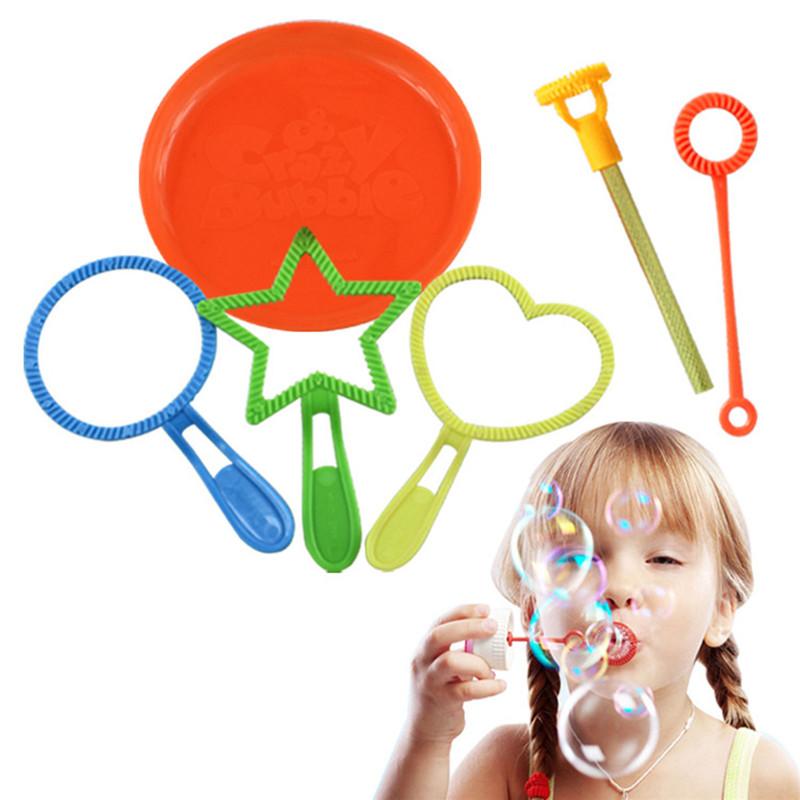 [해외]2018 재미 있은 6 PC / 많은 아이들을거품 장난감 야외 풍선 거품 비누 도구 장난감 거품 스틱 세트/2018 Funny 6 pcs/lot Bubble Toys For Children Outdoor Blowing Bubble Soap Tools Toy Bu