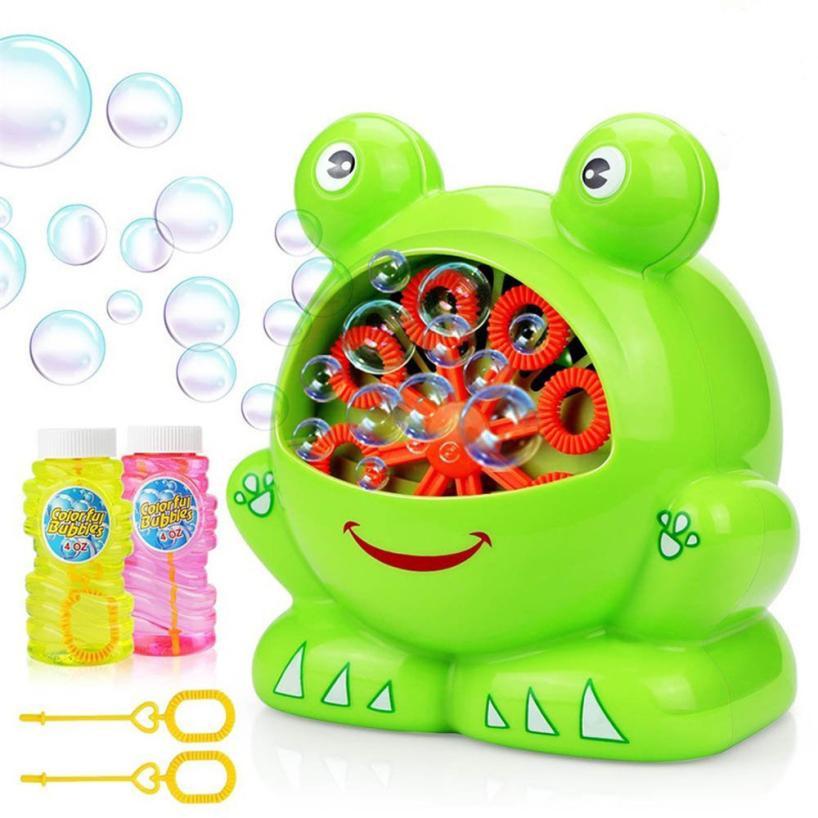 [해외]재미 있은 개구리 자동 거품 장난감 송풍기 기계 거품 메이커 여름 야외 장난감 어린이 거품 어린이 액체 거품 포함/Funny Frog Automatic Bubble Toy Blower Machine Bubble Maker Summer Outdoor Toy for