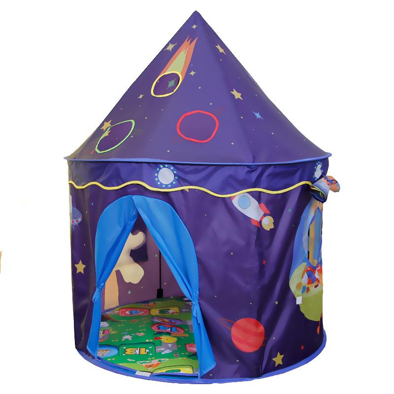 [해외]야드 공간 테마 장난감 텐트 어린이 게임 집 아기 놀이 텐트 어린이 선물 성 어린이 천막 텐트/YARD Space Theme Toy Tent Kids Game House Baby Play Tent Child Gifts Castle Children Teepee K