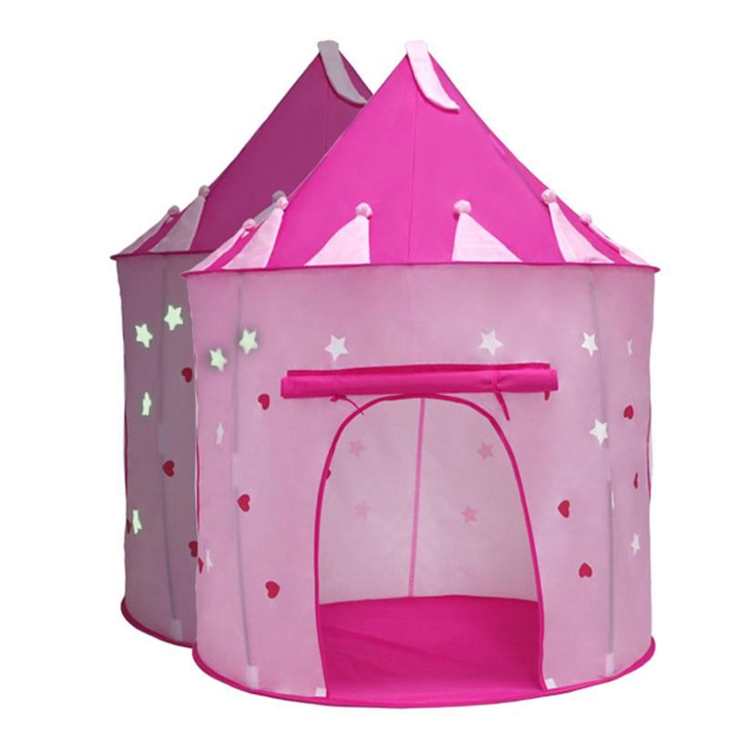 [해외]플레이 텐트 볼 풀 빛나는 성 플레이 하우스 휴대용 접이식 공주 접이식 텐트 아이들을야외 장난감 선물 어린이/Play Tent Ball Pool Luminous Castle Play House Portable Foldable Princess Folding Ten