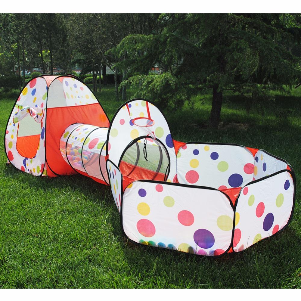 [해외]3Pcs / Set Foldable 풀 튜브 Teepee 베이비 플레이 텐트 하우스 유아 크롤 링 파이프 라인 터널 게임 플레이 텐트 Ocean Ball Pool/3Pcs/Set Foldable Pool-Tube-Teepee Baby Play Tent House