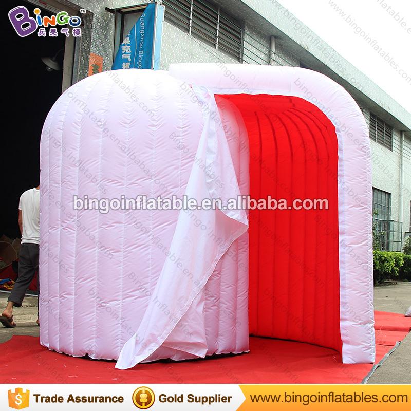 [해외]공장 직접 판매 3X2X2.3M LED 풍선 사진 부스 유형 빨간색 흰색 내부 조명 돔 이글루 내부 결혼식 파티 소품/Factory direct sale 3X2X2.3M LED inflatable photo booth type red inside white ou