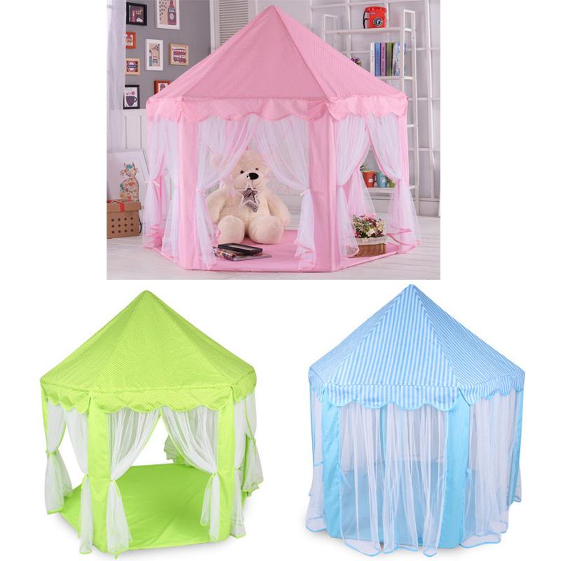 [해외]어린이 텐트 육각 실내 놀이 집 공주 아기 놀이 아기 장난감 해양 볼 풀 텐트 장난감/Children&s tent Hexagonal indoor play house princess baby play baby toys marine ball pool tents to