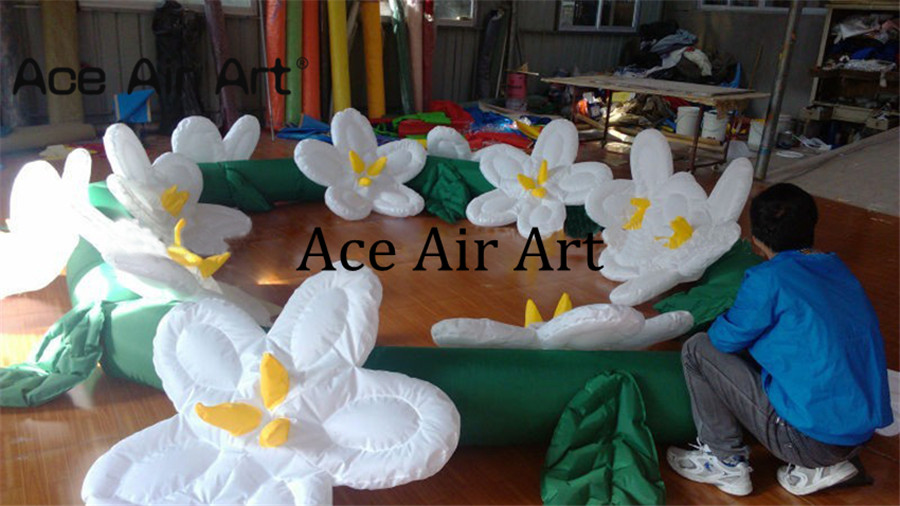 [해외]에이스 에어 아트로 판매 크리 에이 티브 웨딩 장식 풍선 꽃 chainled 빛/Creative wedding decoration inflatable flower chainled light for sale by Ace Air Art