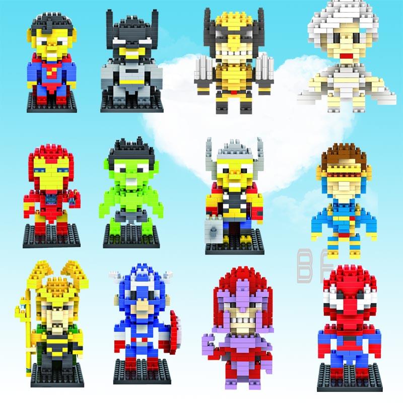 [해외]LOZ 슈퍼 영웅 애니메이션 다이아몬드 블록 귀여운 빌딩 블록 장난감 벽돌 교육 액션 피규어 어린이 크리스마스 완구/LOZ  super hero Anime  diamond block cute building blocks toys bricks  educationa