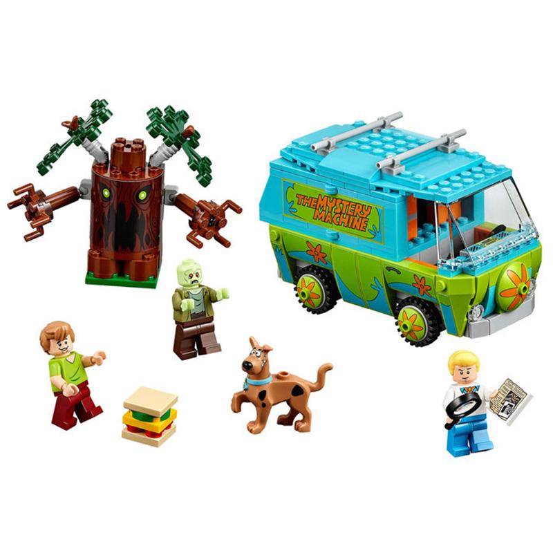 [해외]베일 10430 10428 스쿠비 두 미스터리 머신 빌딩 블록 완구 세트 벽돌 소년 아이 완구 CompatibleP029 생일 선물/Bale 10430 10428 Scooby Doo The Mystery Machine Building Blocks Toys Set