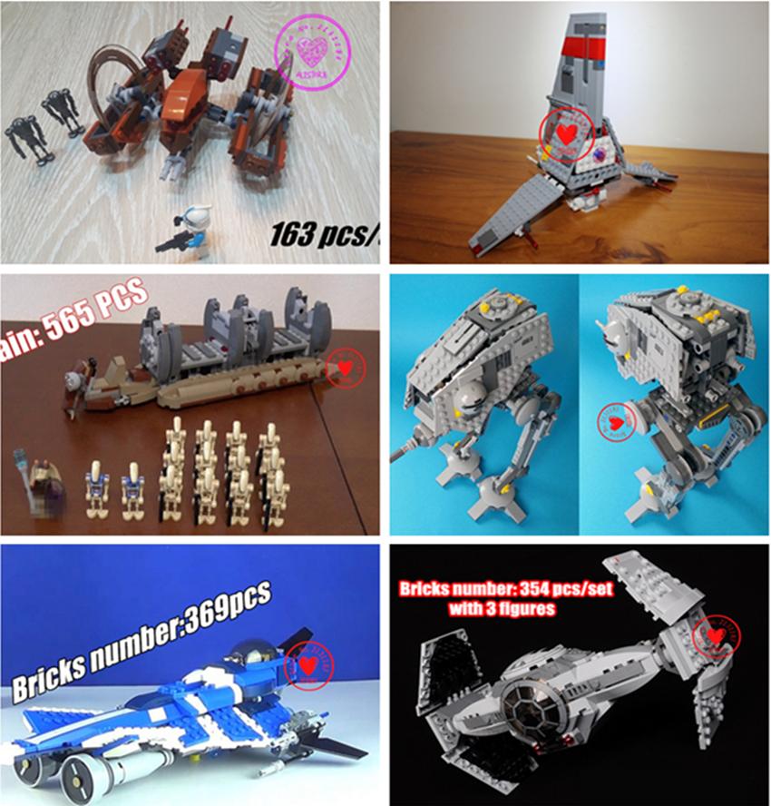 [해외]새로운 스타 워즈 모델 빌딩 블록 키트 벽돌 diy 교육 compatiable legoes 선물 아이 스타 워즈 소년 생일 세트/NEW Star wars Model Building Blocks kit bricks diy Toys educational compat