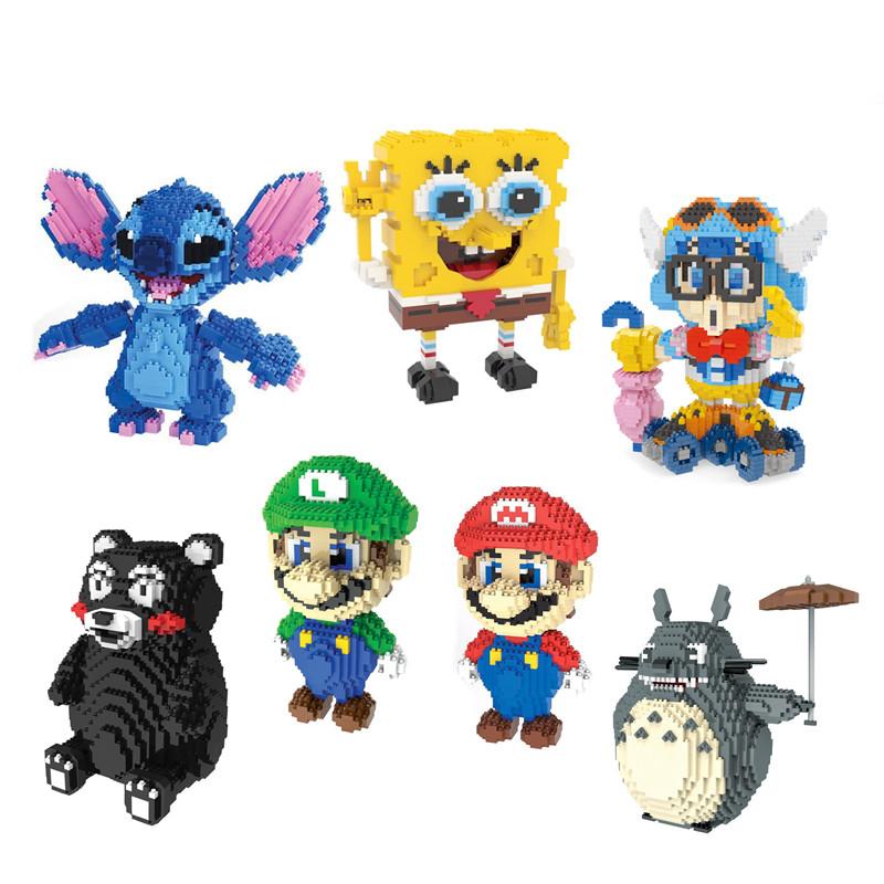 [해외]HC 매직 블록 구마 몬 토토로 미니 블록 스티치 마이크로 블록 슈퍼 마리오 DIY 빌딩 완구 유대인 경매 피규어 어린이 용품/HC Magic Blocks Kumamon Totoro Mini Blocks Stitch Micro blocks Super Mario