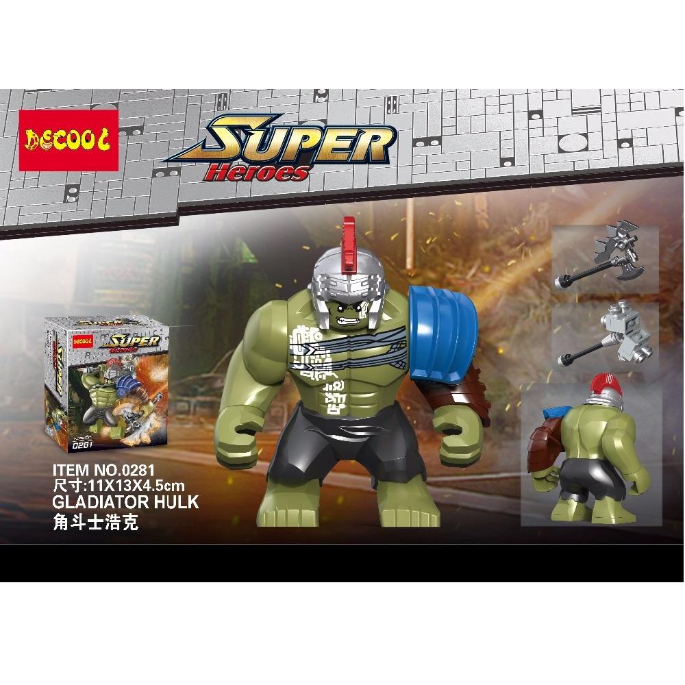 [해외]Decool 0281 수퍼 히어로 8.5cm 큰 사람 크기 헐크 버스터 빌딩 블록 아이들을장난감 선물 완구 레고 미니 피겨 용/Decool 0281 Superheroes 8.5cm Big Man Size Hulk buster Building Blocks Bric