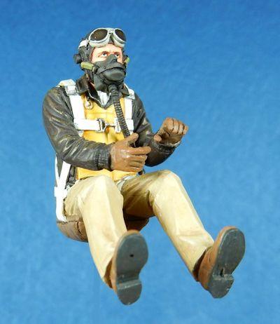 [해외]1/32 규모 WW2 미국 조종사 (2 헤드 포함) WWII 수지 모델 키트 그림/1/32 scale WW2 US Pilots (including 2 head) WWII Resin Model Kit figure