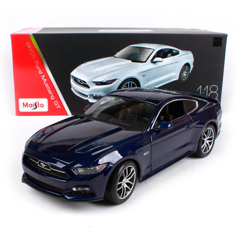 [해외]Maisto 1:18 2015 포드 머스탱 GT 스포츠카 Hardback 다이 캐스트 모델 자동차 장난감 상자 38133에 새로운/Maisto 1:18 2015 Ford Mustang GT Sports Car Hardback Diecast Model Car To