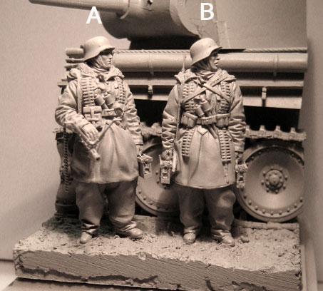[해외]?1/35 Scale Unpainted 수지 그림 WW2 Easten 독일 군인 2 자리 (탱크는 포함되지 않음) 채취도/ 1/35 Scale Unpainted Resin Figure WW2 Easten German soldiers 2 figures (tank