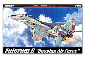 [해외]아카데미 12292 MiG-29 Fulcrum B 2 인승 전투기, 러시아 공군 &/ACADEMY 12292 MiG-29 Fulcrum B two-seat fighter, &Russian Air Force.&