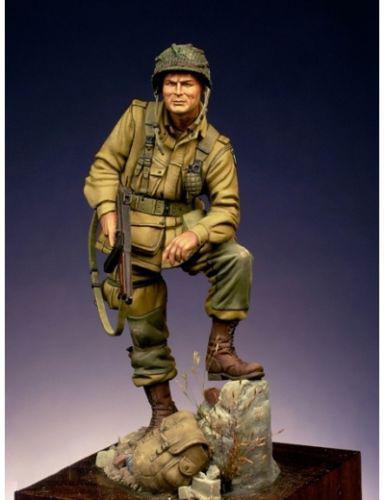[해외]새로운 조립되지 않은 1:24 75mm american paratroopers 군인 스탠드 피규어 수지 키트 diy 완구 unpainted 키트