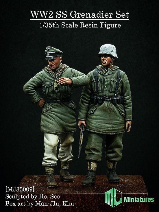 [해외]1/35 Resin Figure Model Kit 2 차 세계 대전 병사 2 명 (4 명) kharkov Unassambled Unpainted/1/35 Resin Figure Model Kit WWII Ss soldiers 2 people (4 head) kh