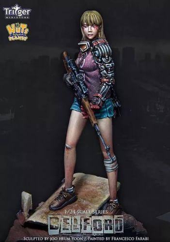 [해외]1:24 75mm 수 지형 모델 킷 여성 저격수 Unassambled Unpainted/1:24 75mm Resin Figure Model Kit  Female sniper  Unassambled  Unpainted