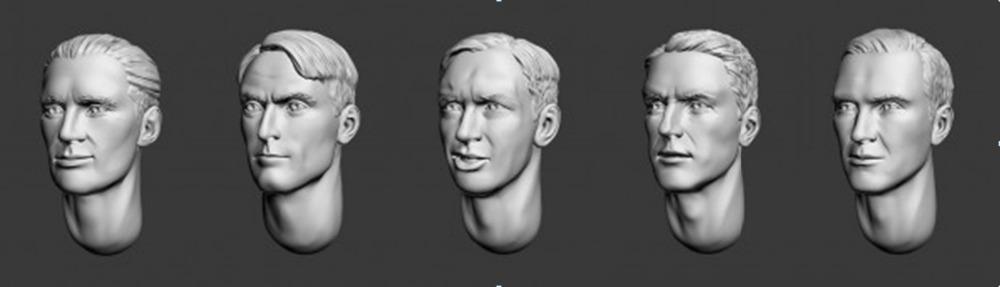 [해외]1/35 수지 그림 모델 키트 RESIN HEAD -55 Unassambled Unpainted/1/35 Resin Figure Model Kit  RESIN HEAD -55  Unassambled  Unpainted