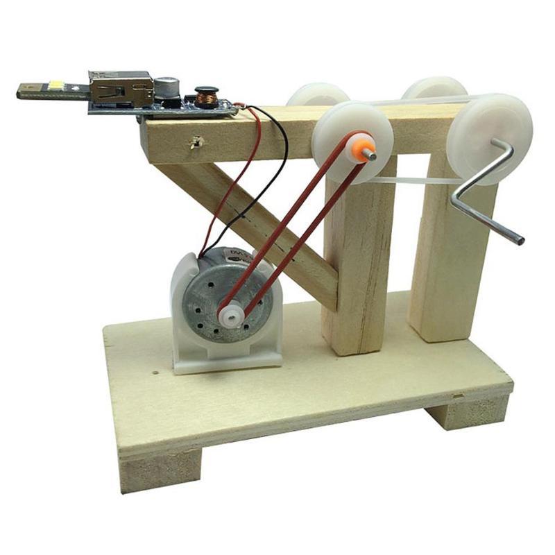[해외]DIY 과학 장난감 디나모 발전기 모델 목재 발명 과학 교육 키트 어린이 크리 에이 티브 교육 조립 완구/DIY Science Toys Dynamo Generator Model Wood Invention Science Education Kits Children
