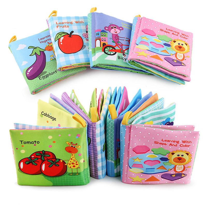 [해외]아기 딸랑이 핸드폰 장난감 부드러운 동물 헝겊 책 신생아 유모차 매달려 장난감 비비 조기 교육 아기 장난감 교육/Baby Rattles Mobiles Toy Soft Animal Cloth Book Newborn Stroller Hanging Toy Bebe E
