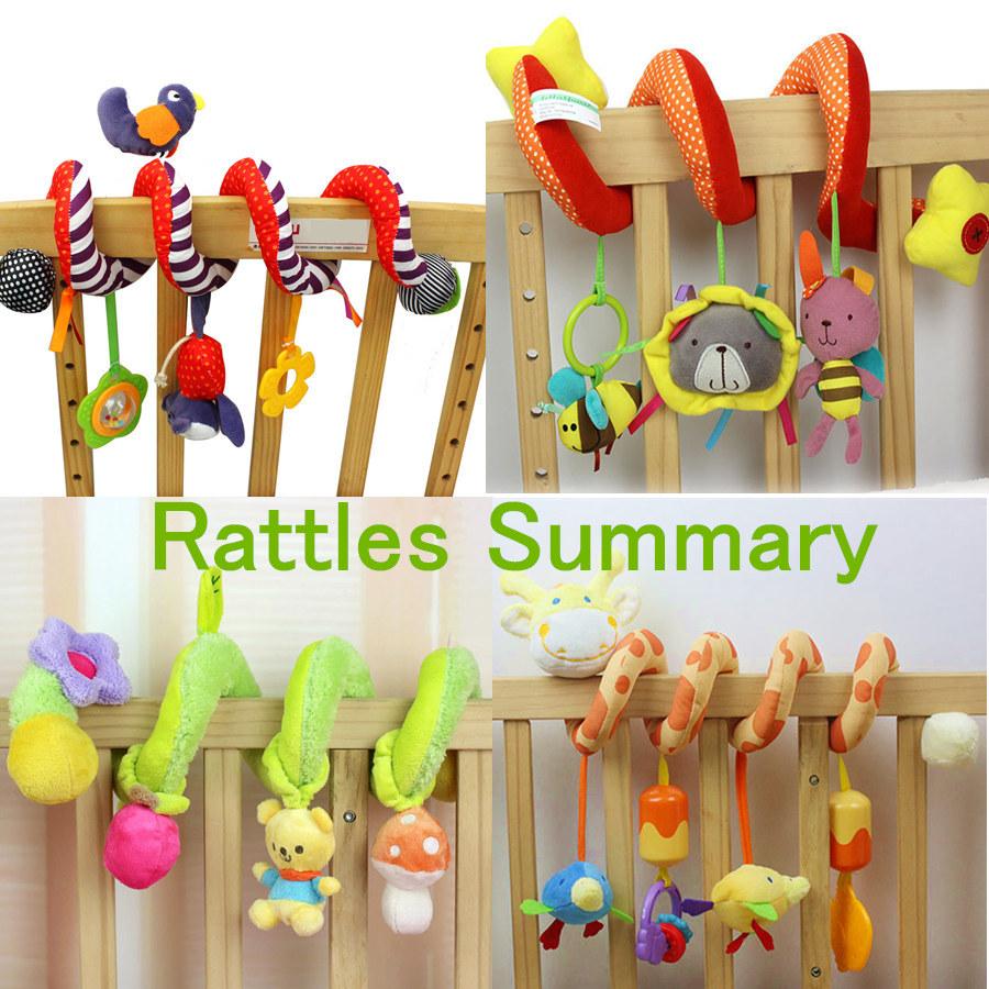 [해외]부드러운 신생아 유아 베이비 침대 침대 유모차 장난감 뮤지컬 딸랑이 나선형 아기 장난감 교수형 벨 교육 장난감/Soft Newborn Infant Baby Crib Bed Stroller Toy Musical Rattles Spiral Baby Toys For