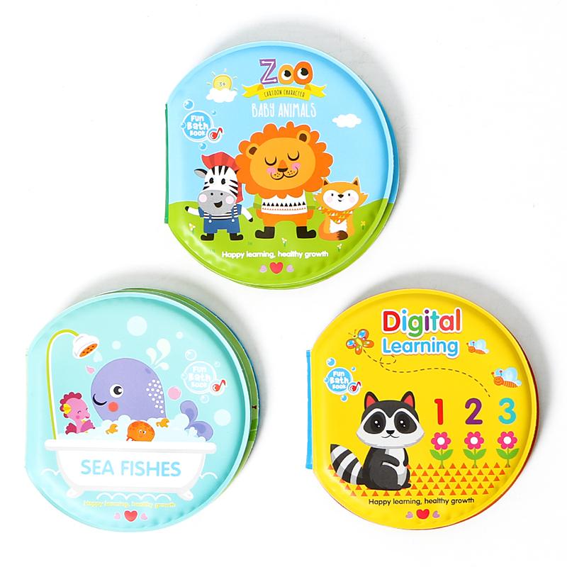 [해외]아기 목욕 장난감 교육 0-12 개월 신생아를만화 동물 방수 베이비 북 장난감 Brinquedos Para Bebek Oyuncak/Baby Bath Toys Educational 0-12 Months Cartoon Animal Waterproof Baby Bo