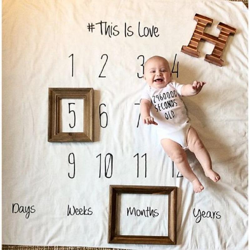 [해외]그림 게임 숫자 비행기 패턴 아기 성장 기념 사진 촬영 소품 놀이 매트 크롤 링 카펫 장식 키즈 룸/Picture Game Numeric Airplane Pattern Baby Growing Memorial Photography Props Play Mats Cr