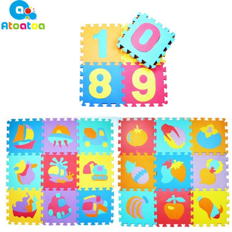 [해외]10PCS 교육 아기 놀이 매트 에바 거품 번호 동물 연동 퍼즐 카펫 매트 키즈 크롤링을 개발하는 아이들/10PCS Educational Baby Play Mat Eva Foam Number Animal Interlocking Puzzle Carpet Mat K