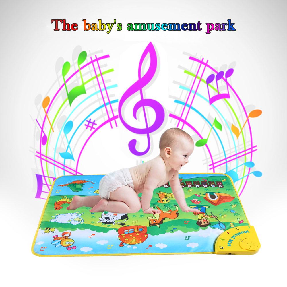 [해외]아기 음악 카펫 다채로운 뮤지컬 배우 매트 동물 농장 플래시 음악 담요 터치 아기 아이를장난감 완구 71 * 49CM/Baby Music Carpet Colorful Musical Learning Mat Animal Farm Flash Music Blanket