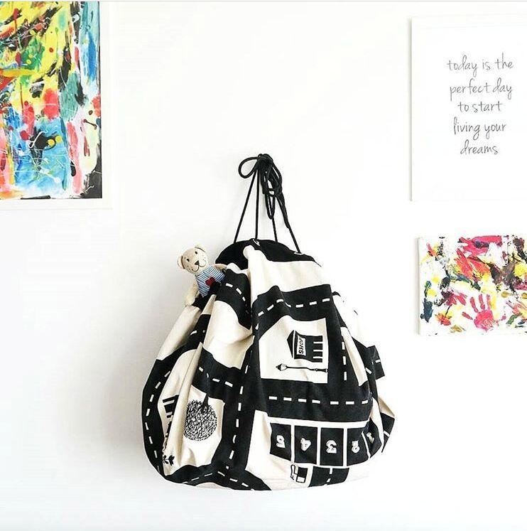 [해외]모험 게임 보관 장난감 및 수집 백 담요 아기 도로 트랙 등산 매트 유아용 커버 INS 카펫 바닥 개발/Adventure Game Storage Toys&Collection Bag Blanket Baby Road Track Climbing Mat Toddler