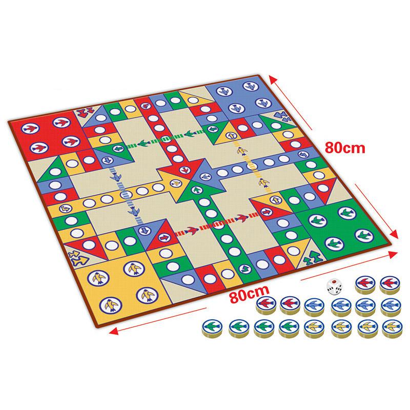 [해외]16pcs Chessmen 보드 게임 비행 체스 카펫 키즈 클래식 비행 게임 장난감 클래식 퍼즐 게임 키즈를가족의 즐거운 선물을 즐기십시오/16pcs Chessmen Board Game Flying Chess Carpet Kids Classic Flight Ga