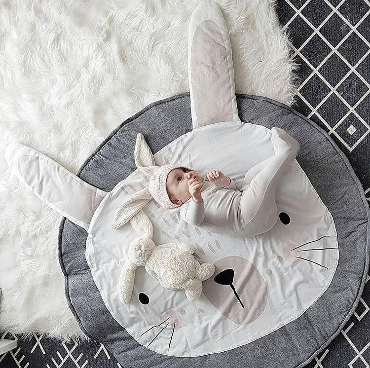 [해외]키즈 아기 라운드 토끼 게임 재미 담요 신생아 베이비 보이즈 소녀 귀여운 들어온 매트 129 랩 부드러운 유아 키즈 매트/Kids Baby Round Rabbit Game Funny Blanket Newborn Baby Boys Girls Cute Creepin