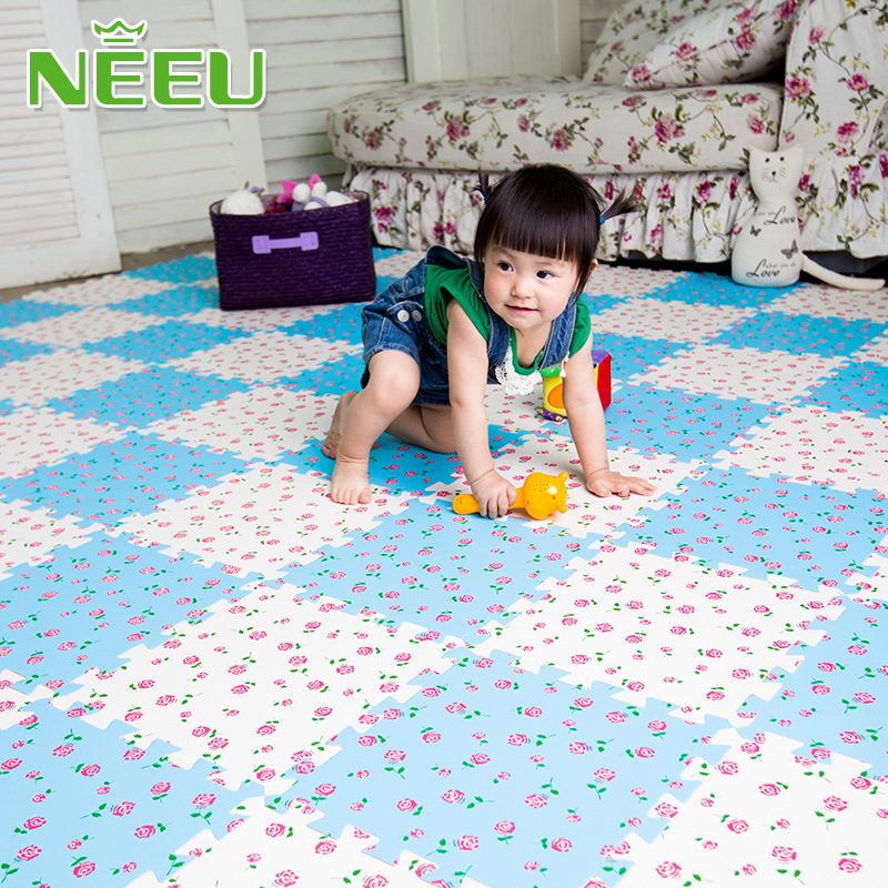 [해외]아이 & s 수수께끼 꽃 놀이 매트 EVA 거품 아기 수수께끼 Playmat 도와 비 독성 연동 마루 유아 유아 운동 양탄자/Kid&s Puzzle Floral Play Mat EVA Foam Baby Puzzle Playmat Tiles Non-Toxi