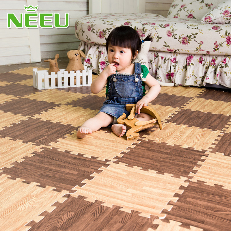 [해외]NEEU 아기 퍼즐 매트 유아 에바 거품 플레이 매트 어린이 나무 카펫 유아 체육관 놀이 매트 playmat 러그 30 * 30 * 1cm/NEEU baby puzzle mat toddler eva foam play mat children wood carpet