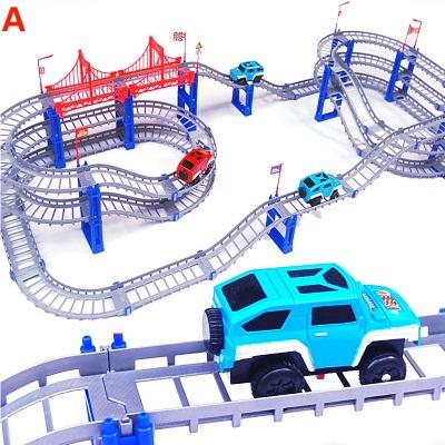 [해외]다층 트랙 자동차 장난감 전기 자동차 토마스 트레이너 어린이 경주 소년 회전 롤러 코스터/Multi-storey track car toy electric car Thomas trainer children racing boy rotating roller coast