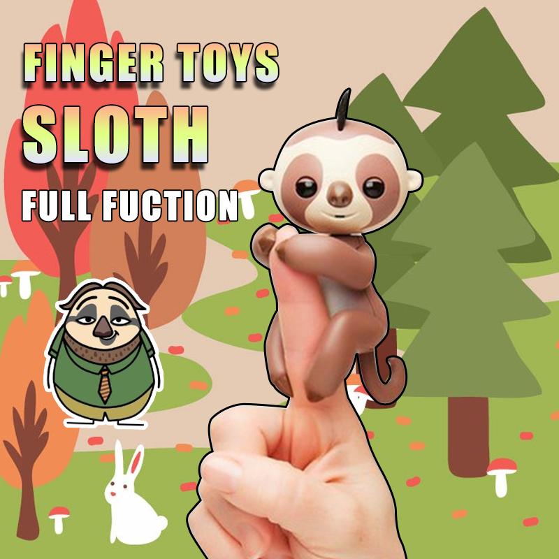 [해외]손가락 원숭이 녹음 손가락 Sloth2 현명한 반응 손가락 전자 스마트 터치 손가락 원숭이 크리스마스 선물 키드/Finger monkey recording finger Sloth2 smart reactions Finger Toys Electronic Smart