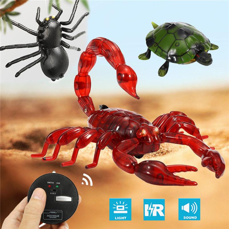 [해외]원격 제어 적외선 현실적 거미 거북 ScorpionLight 충전기 전자 선물 완구/Remote Control Infrared Realistic Spider Turtle ScorpionLight Charger Electronic Gifts Toys