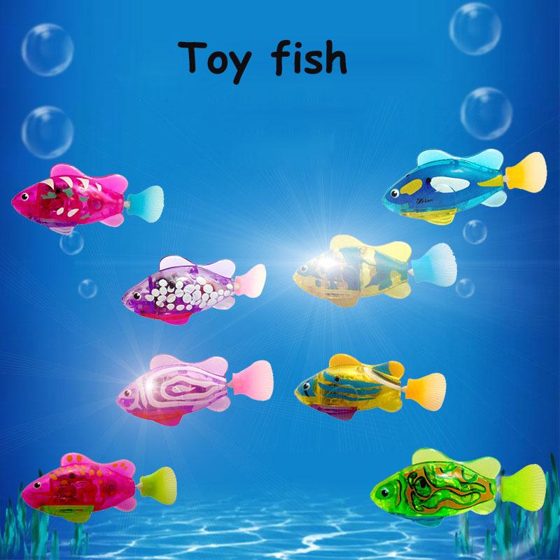[해외]조명 전기 생선 낚시 장난감 수영 전자 애완 동물 물고기 Tamagochi 스윙 피쉬 수영 장난감 Peixe Robo 여아용 장난감/Lights Electric Fish Fishing Toys Swimming Electronic Pets Fish Tamagoch