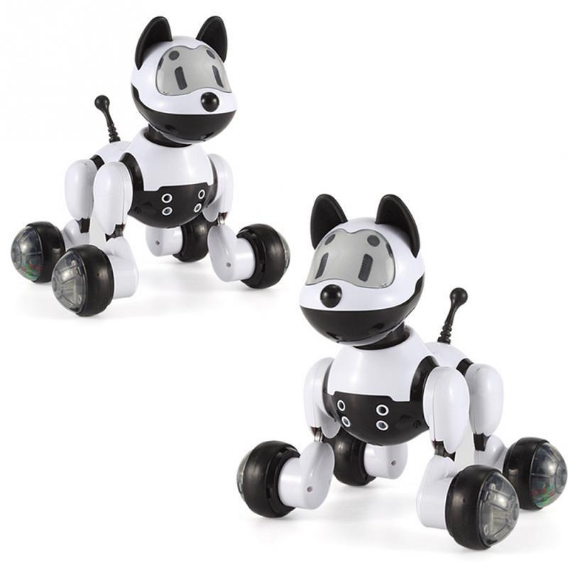 [해외]아이 선물 RC 워킹 개 고양이 2.4G 무선 원격 제어 스마트 개 고양이 전자 애완 동물 교육 어린이 & 장난감 로봇 개 고양이/Kids Gift RC Walking Dog cat 2.4G Wireless Remote Control Smart Dog c