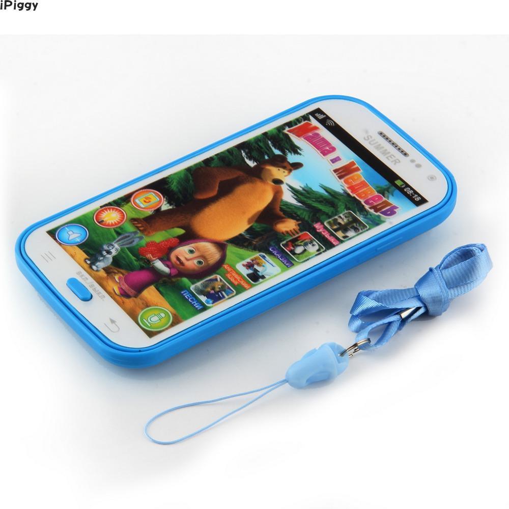 [해외]다기능 교육 모델 장난감 휴대 전화 시뮬레이터 러시아어 어린이 키즈 완구 선물 학습 터치 스크린 음악 완구/Multifunction Education Model Toy Mobile Phone Simulator Russian Language Kids  Baby T