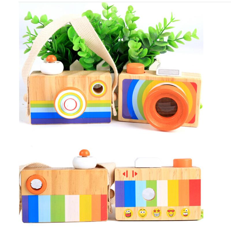 [해외]새로운 귀여운 나무 카메라 완구 아기 교육 어린이를Clasic 교육 완구 패션 어린이 생일 크리스마스 선물 어린이 놀이/New Cute Wood Camera Toys Clasic Educational Toys For Baby Children Fashion Chi